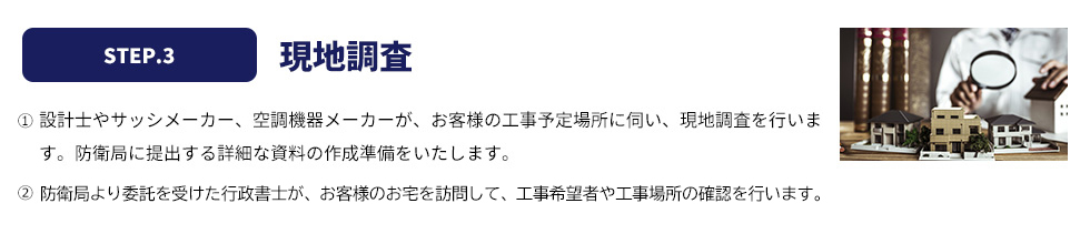 step.3 現地調査